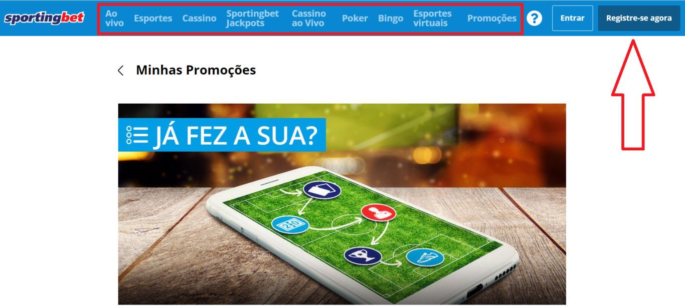 Sportingbet – benefícios do usuário mobile anexos