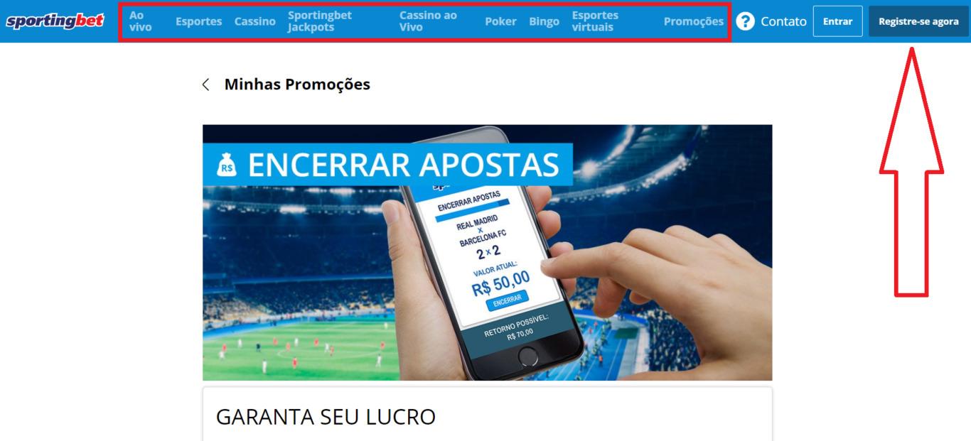 Aplicação móvel Sportingbet para Android e iPhone