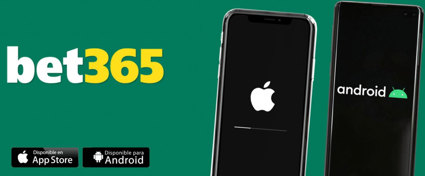 Interface de aplicação Bet365 para Android e iOS