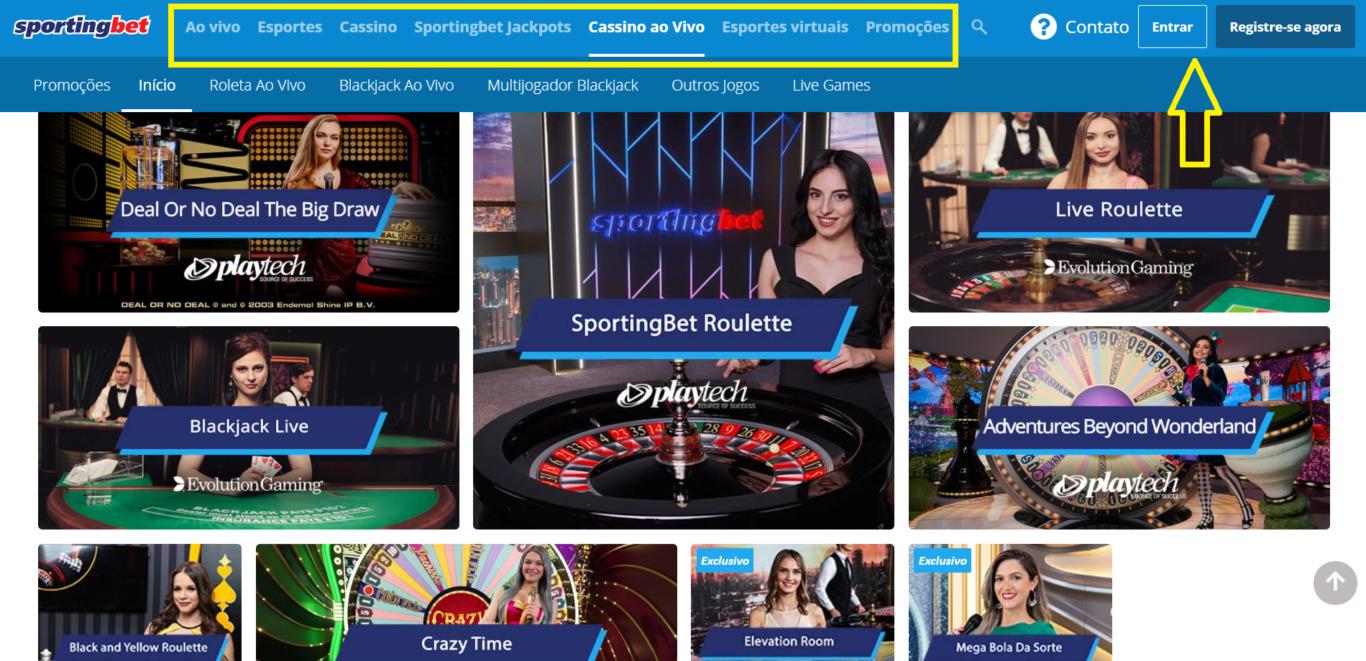 Sportingbet: Agente de apostas cadastrar através do site oficial