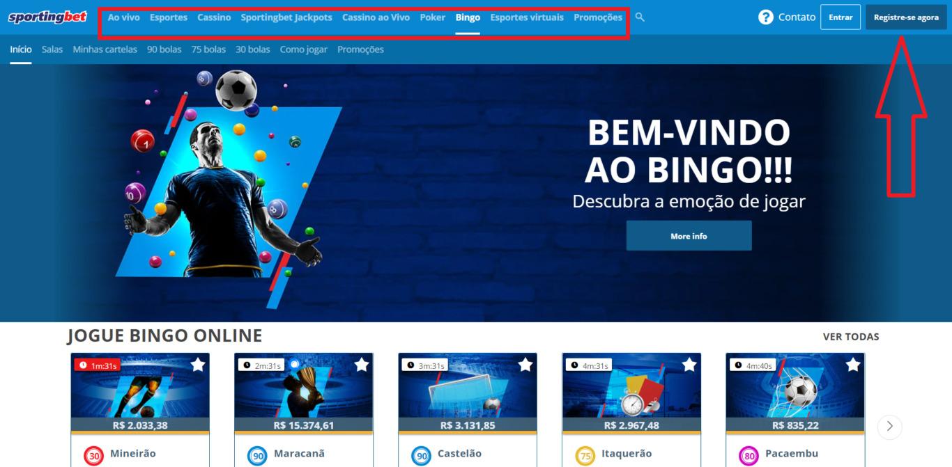 Onde encontrar código promocional para uma empresa de apostas Sportingbet?