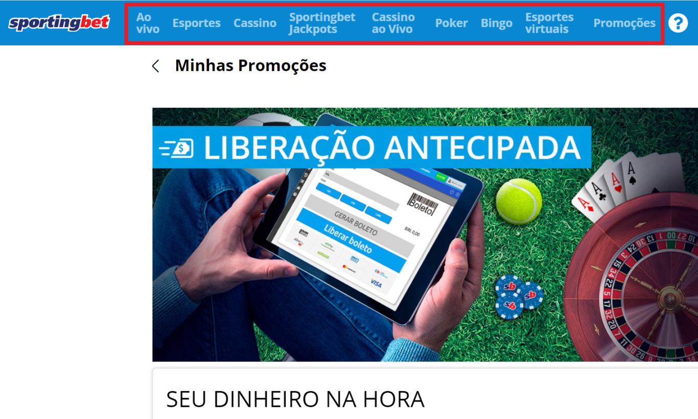 Características de navegação para jogadores de Brasil no contexto de Sportingbet